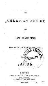The American Jurist and Law Magazine: Volume 12