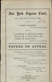 New York Supreme Court Papers on Appeal