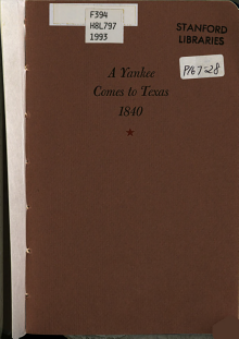 A Yankee Comes to Texas  1840 PDF