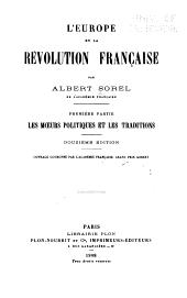 L'Europe et la révolution française: Volume1