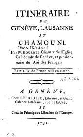 Itinéraire de Genève, Lausanne et Chamouni