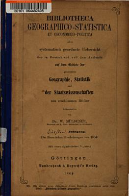 Bibliotheca geographico statistica et oeconomico politica PDF