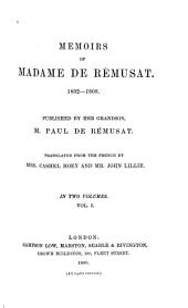 Memoirs of Madame de Rémusat: 1802-1808