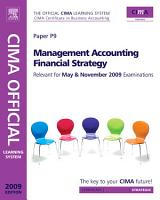 CIMA Official Learning System Management Accounting Financial Strategy PDF