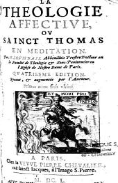 La théologie affective, ou Sainct Thomas en méditation: Volumes1à2