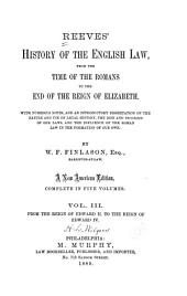 From the reign of Edward II. to the reign of Edward IV