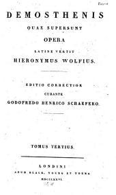 Demosthenis quae supersunt, ex editione Ioa. Iac. Reiskii: Versio latina