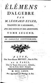 Élémens D'Algebre: De L'Analyse Indéterminée, Volume2