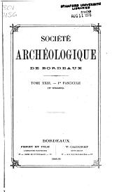 Bulletin et mémoires: Volumes23à24