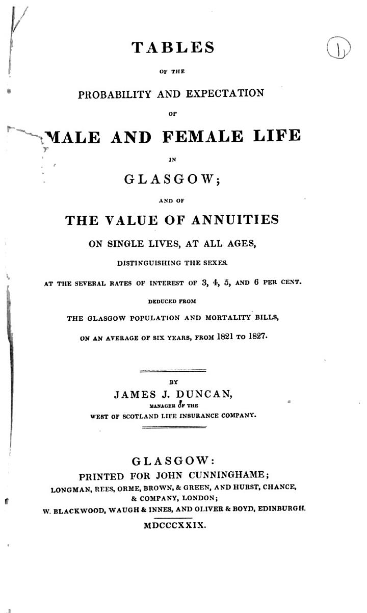 Pamphlets Mainly on the Vital Statistics of Glasgow ...