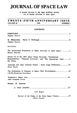 Journal of Space Law PDF