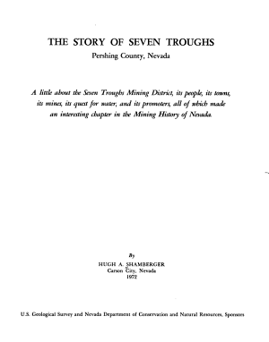 The Story of Seven Troughs  Pershing County  Nevada PDF