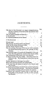 Memorial addressed to ... her majesty's government, by the commissioners appointed by the Church, Sept. 1841: Volume 1