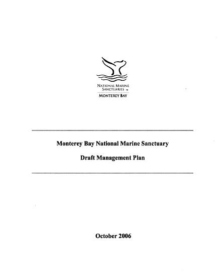 Cordell Bank National Marine Sanctuary  Management Plan PDF