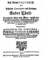 Mons Calvariae  Oder Passions Concept  und Predigen PDF