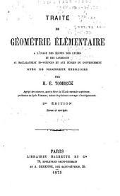 Traité de géométrie élémentaire à l'usage des élèves des lycées ...