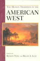 The Human Tradition in the American West PDF