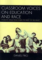 Classroom Voices on Education and Race PDF