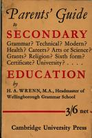 The Parents  Guide to Secondary Education PDF