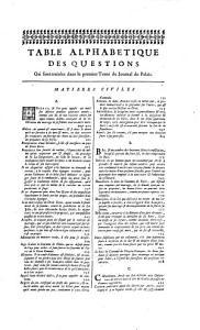 Journal du Palais  ou Recueil des principales d  cisions de tous les parlemens et cours souveraines de France     PDF