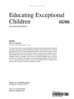 Educating Exceptional Children 05 06 Book