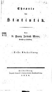 Theorie der Statistik ...