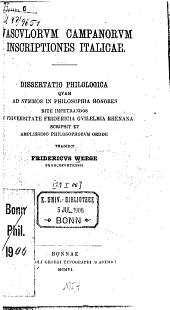 Vasculorum campanorum inscriptiones Italicae: dissertatio philologica ...