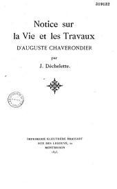 Notice sur la vie et les travaux d'Auguste Chaverondier