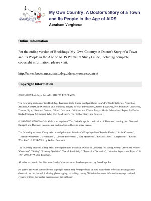 My Own Country by Abraham Verghese   Summary & Study Guide