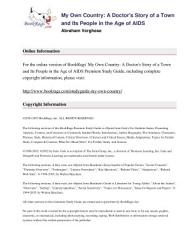 My Own Country By Abraham Verghese Summary Study Guide Book PDF