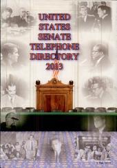 United States Senate Telephone Directory 2013