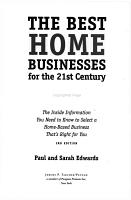 The Best Home Businesses for the 21st Century PDF