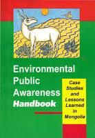 Environmental Public Awareness Handbook  Case Studies and Lessons Learned in Mongolia Part 2 PDF