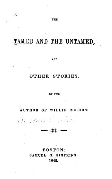 Download The Tamed and the Untamed Book