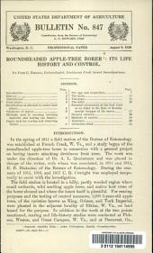 Roundheaded apple-tree borer: its life history and control