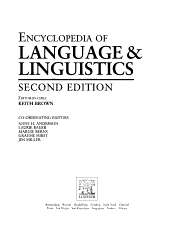 The Encyclopedia of Language and Linguistics  Leb Mei PDF