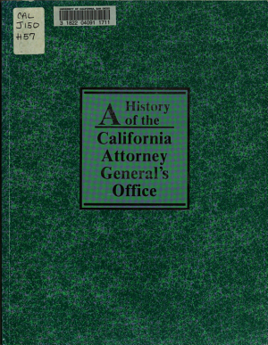 A History of the California Attorney General's Office
