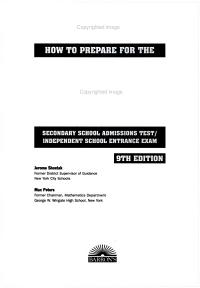 How to Prepare for the SSAT ISEE  Secondary School Admissions Test Independent School Entrance Exam