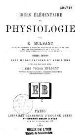 Cours élémentaire de physiologie: édition avec modifications et additions