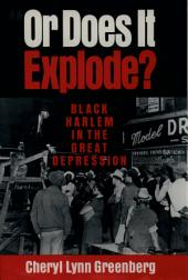 """Or Does It Explode?"": Black Harlem in the Great Depression"