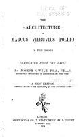 The Architecture of Marcus Vitruvius Pollio PDF