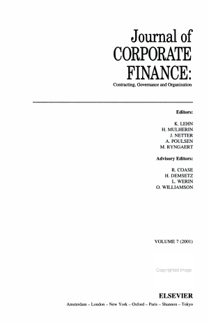 Journal of CORPORATE FINANCE: Contracting, Governance and Organization