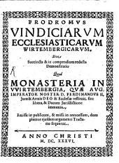 An Monasteria Wirtembergica Territoriali Ducum Superioritati Subiecta Sint ...