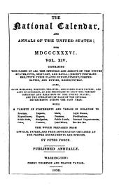 The National Calendar, and Annals of the United States. By Peter Force: Volume 14