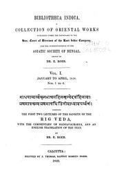 Bibliotheca Indica: Volume 1