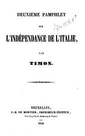 Deuxième pamphlet sur l'indépendance de l'Italie