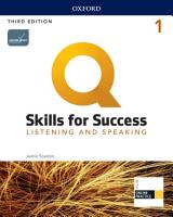 Q  Skills for Success 3E Level 1 Listening and Speaking Student s Book PDF