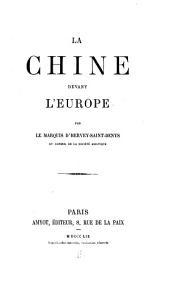 La Chine devant l'Europe