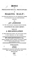 Practical and Philosophical Principles of Making Malt PDF