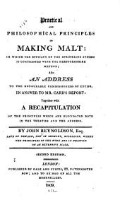 Practical and Philosophical Principles of Making Malt: In which the Efficacy of the Sprinkling System is Contrasted with the Hertfordshire Method